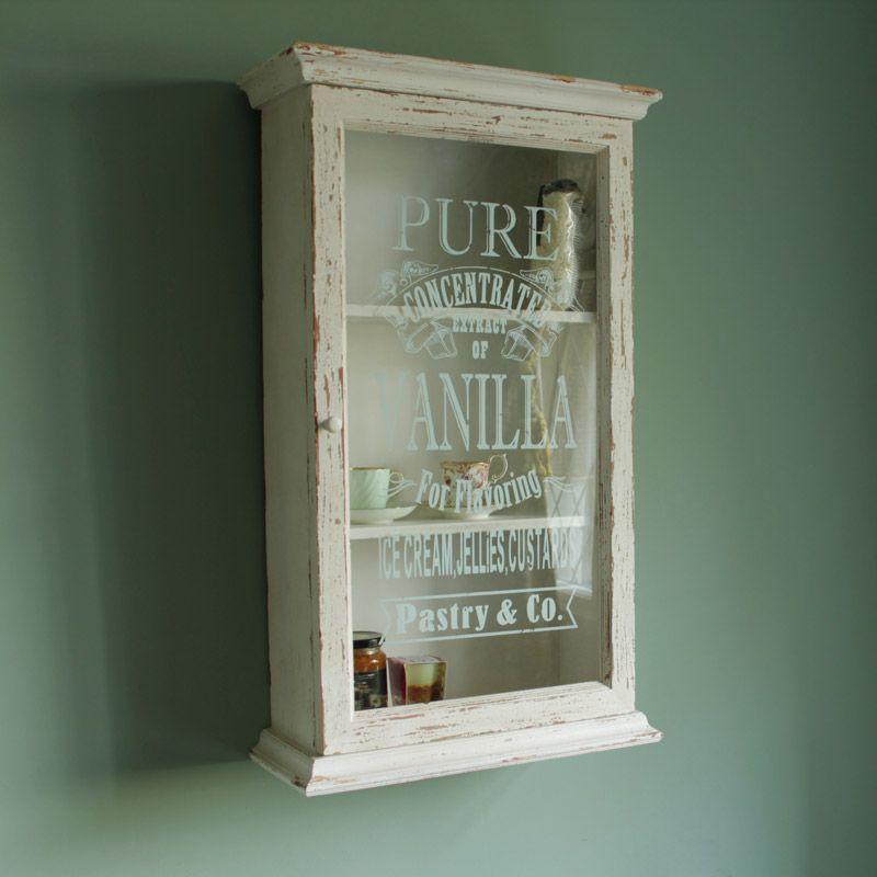 Pure Vanilla Glass Display Cabinet