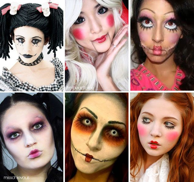 Populares Maquiagem Boneca para Halloween   make   Pinterest   Halloween  DD39