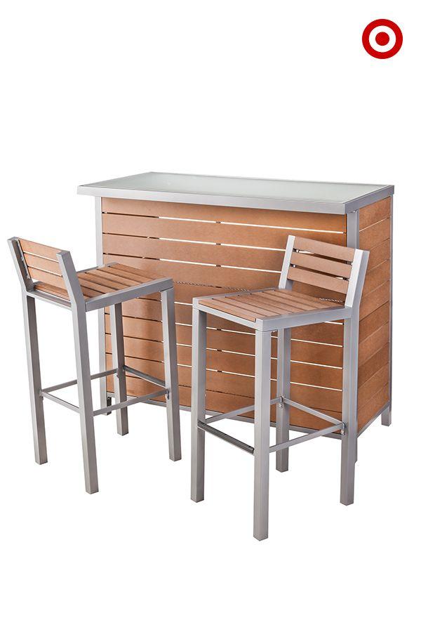 Threshold Bryant Faux Wood Patio Bar Furniture Set Erramientas Cosas Lindas Compras