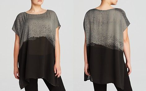 Eileen Fisher Plus Abstract Print Tunic