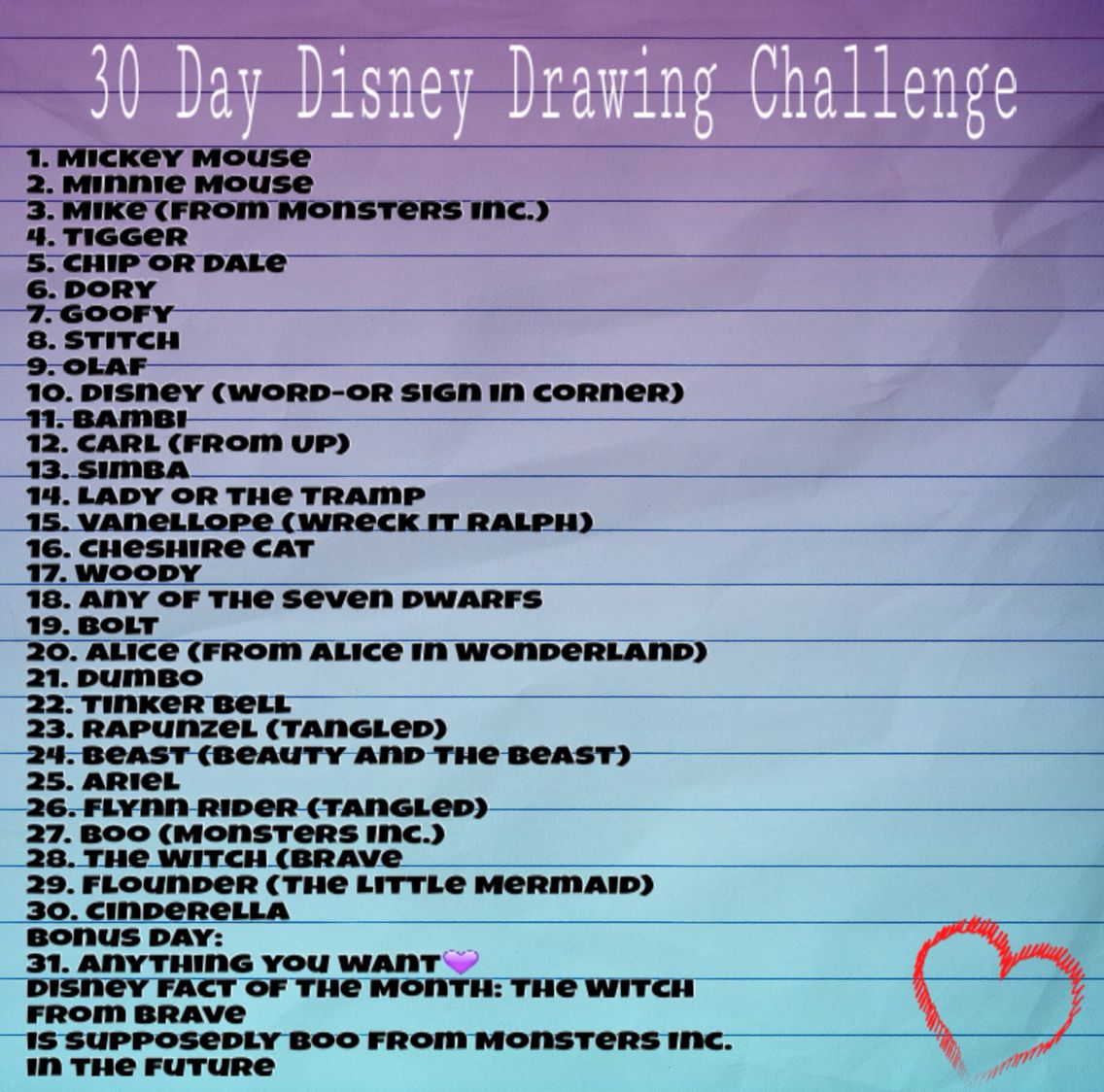 Character Design Drawing Challenge : Day disney drawing challenge drawings pinterest