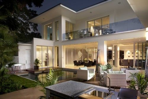 modern exterior by Phil Kean Designs