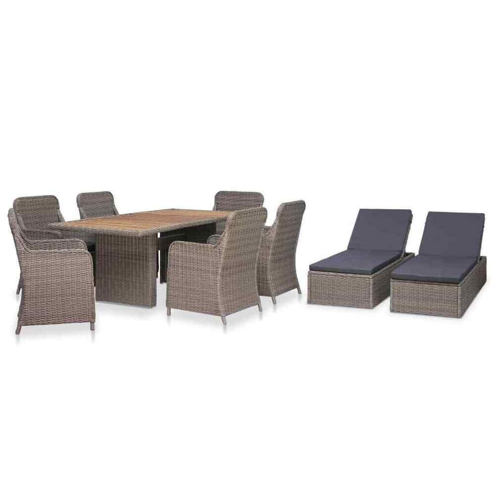 Salle A Manger De Jardin En Resine Tressee vidaxl meuble de jardin 2 chaises longues coussins résine