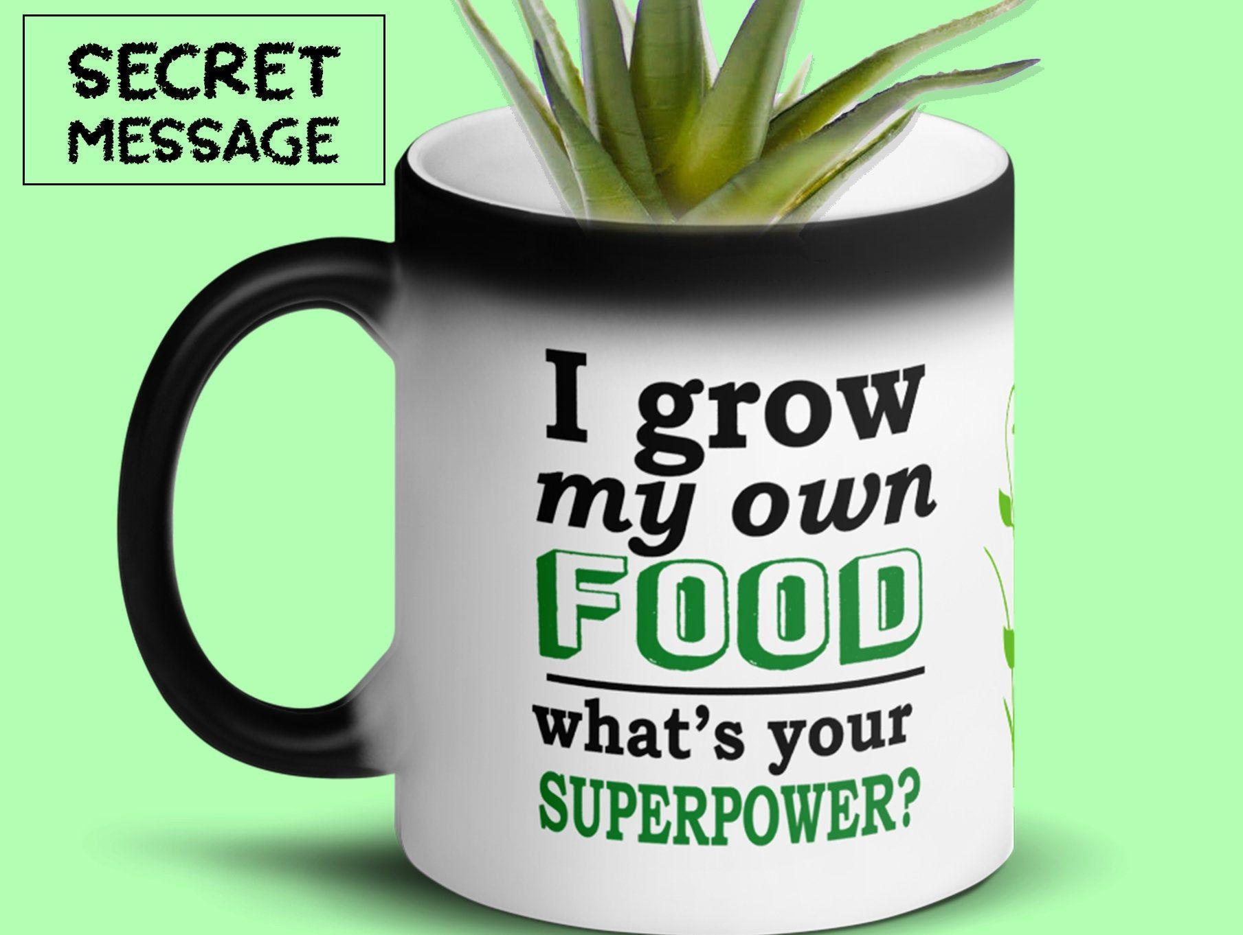 I Grow My Own Food Mug Backyard Farmer Gift Vegan Mug Vegan Gift Organic Gift Garden Gift Gardening Gift Backyard Farmer M Vegan Gifts Backyard Farmer Mugs