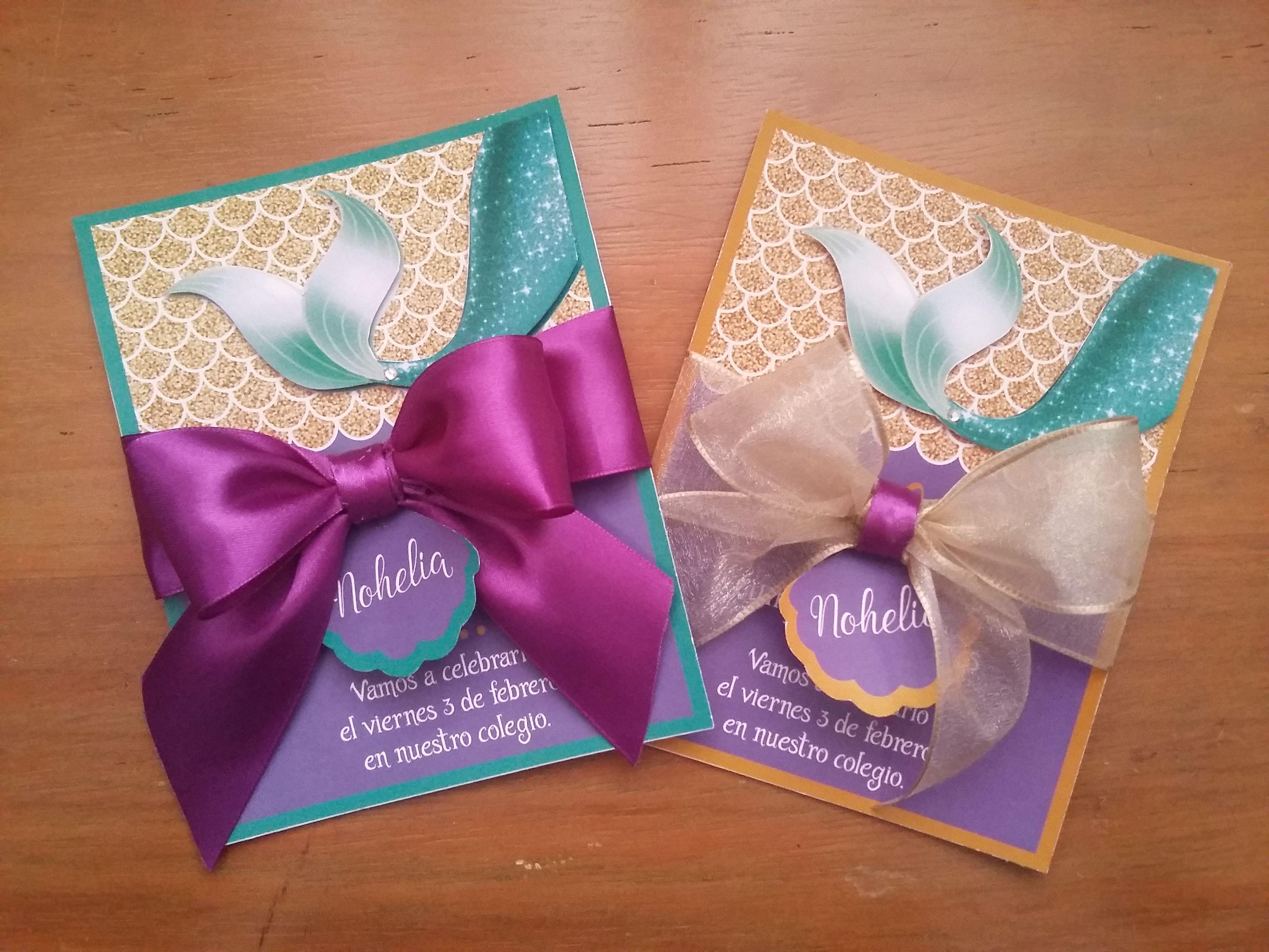Invitación Personalizada De Cumpleaños Tema La Sirenita