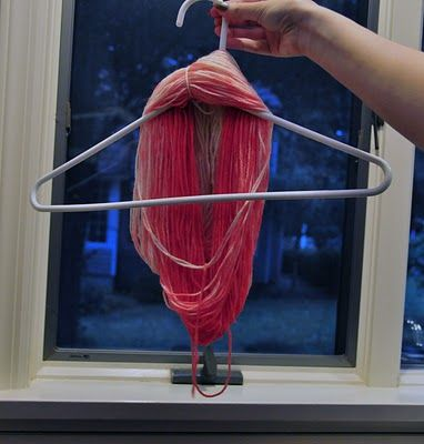 Tutorial for how to dye yarn with a long, slow gradient, from The Work Is Getting To Me.