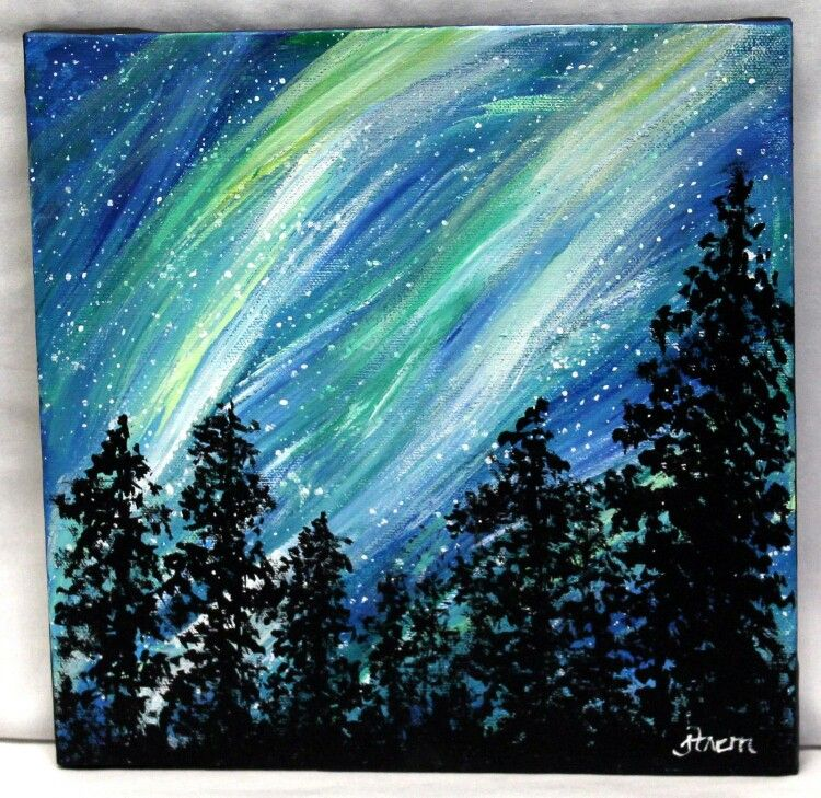 Not Too Many Painting Of The Borealis That I Actually Like