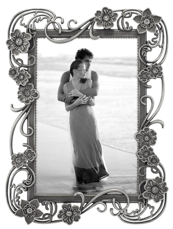 Amazon.com - Malden Violette Jewels Diecast Fashion Metal Frame, 4 by 6-Inch - Baby Keepsake Frames