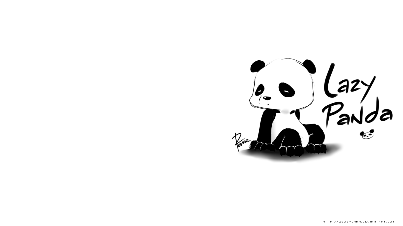 Lazy Panda Wallpaper By Zeusplara Deviantart Com On Deviantart Panda Wallpapers Panda Artwork Panda Background