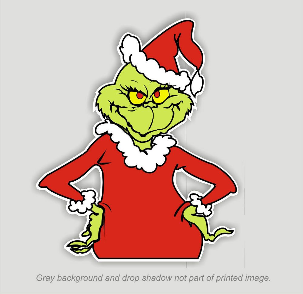 Grinch that Stole Christmas Sticker Decal Dr. Seuss Outdoor Durable ...