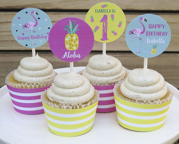 Flamingo Birthday Decorations Pineapple Party Ideas Summer Luau