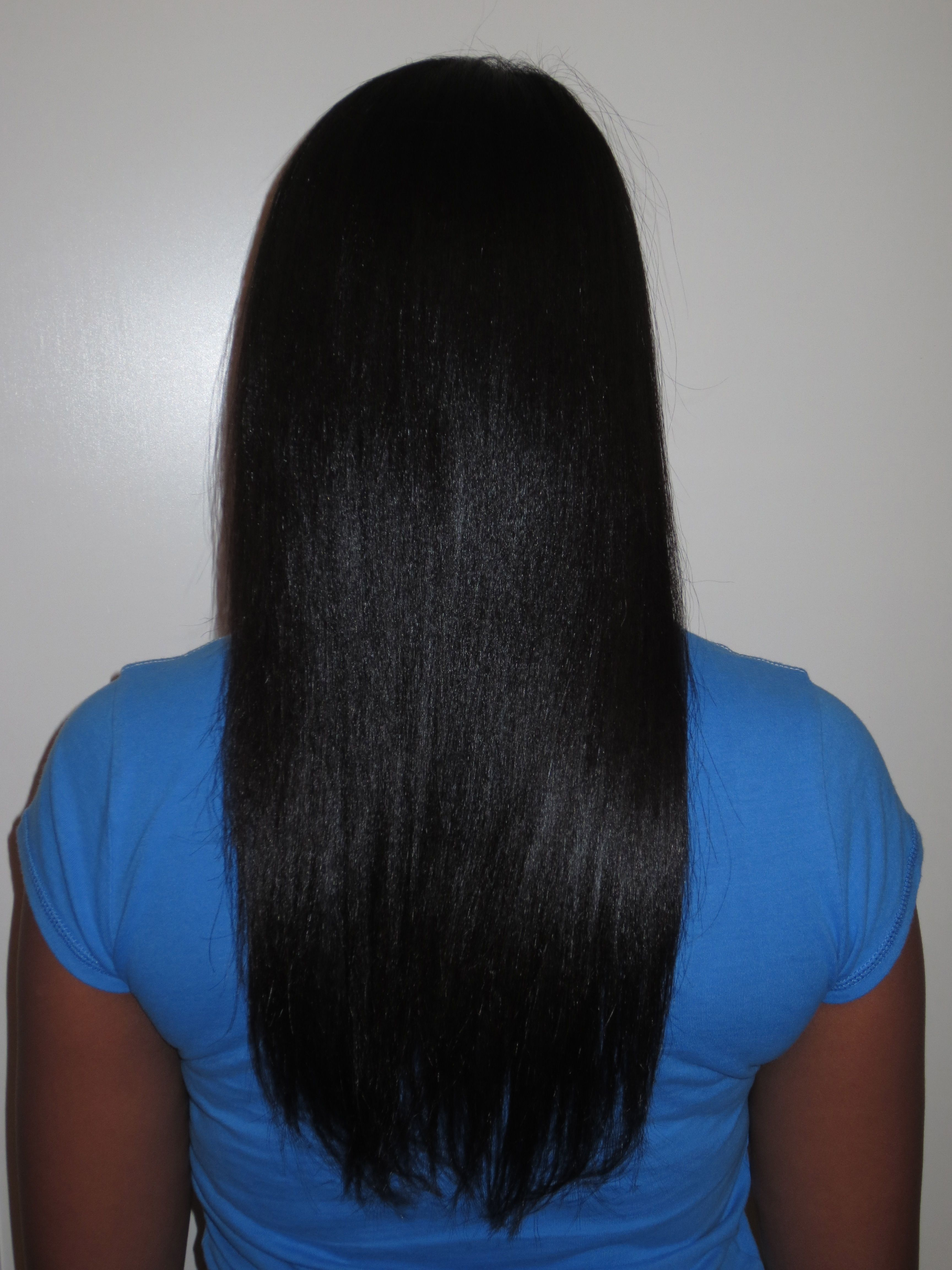 Texlaxed hair flat ironed. 2012 IamPOMH http//www
