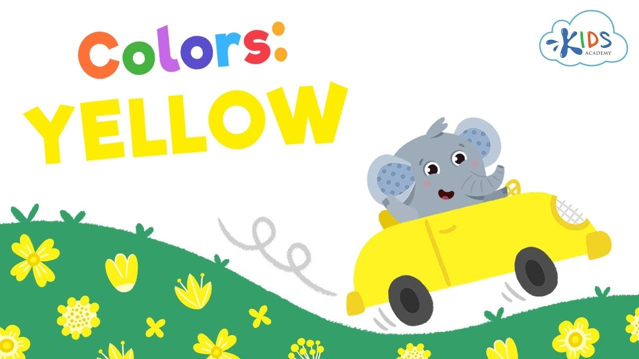 What Color Is Yellow Learning Colors For Toddlers Preschool And Kind Color Yellow Learning Educat Kindergarten Kids Colors For Toddlers Learning Colors