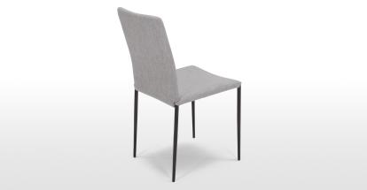 Braga, lot de 2 chaises, gris cathédrale avec pieds en métal