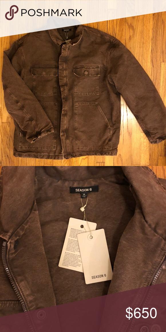 Kanye West Yeezy Season 6 Carpenter Jacket Kanye West Yeezy Season 6 Carpenter Jacket Product Line Yeezy Material D Yeezy Jacket Yeezy Season Denim Branding