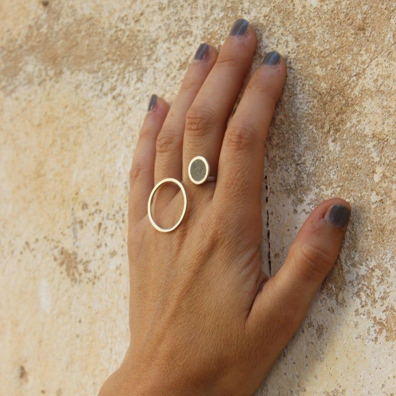Ring for Women Circle Ring Geometric Ring Open Ring Unique Ring Minimalist Jewelry