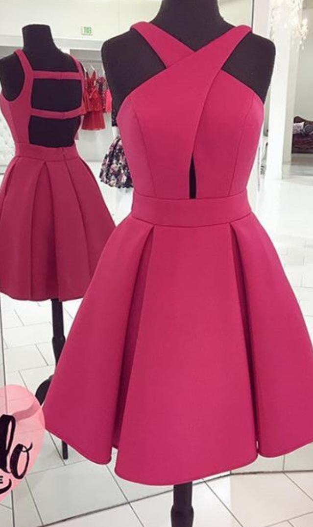 prom dress , short prom dress , burgundy   moda juvenil   Pinterest ...