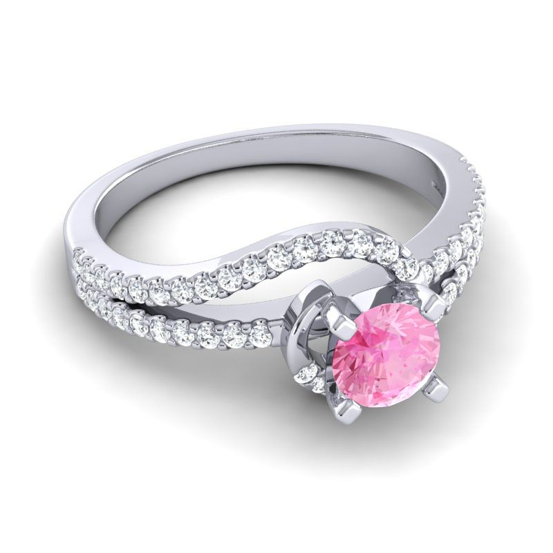 Her appearance was angelic as she graced the room with her presence…This ring has a band covered with gems and a halo of stones surrounding the center stone.