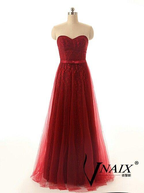 Vestidos de noche color rojo quemado