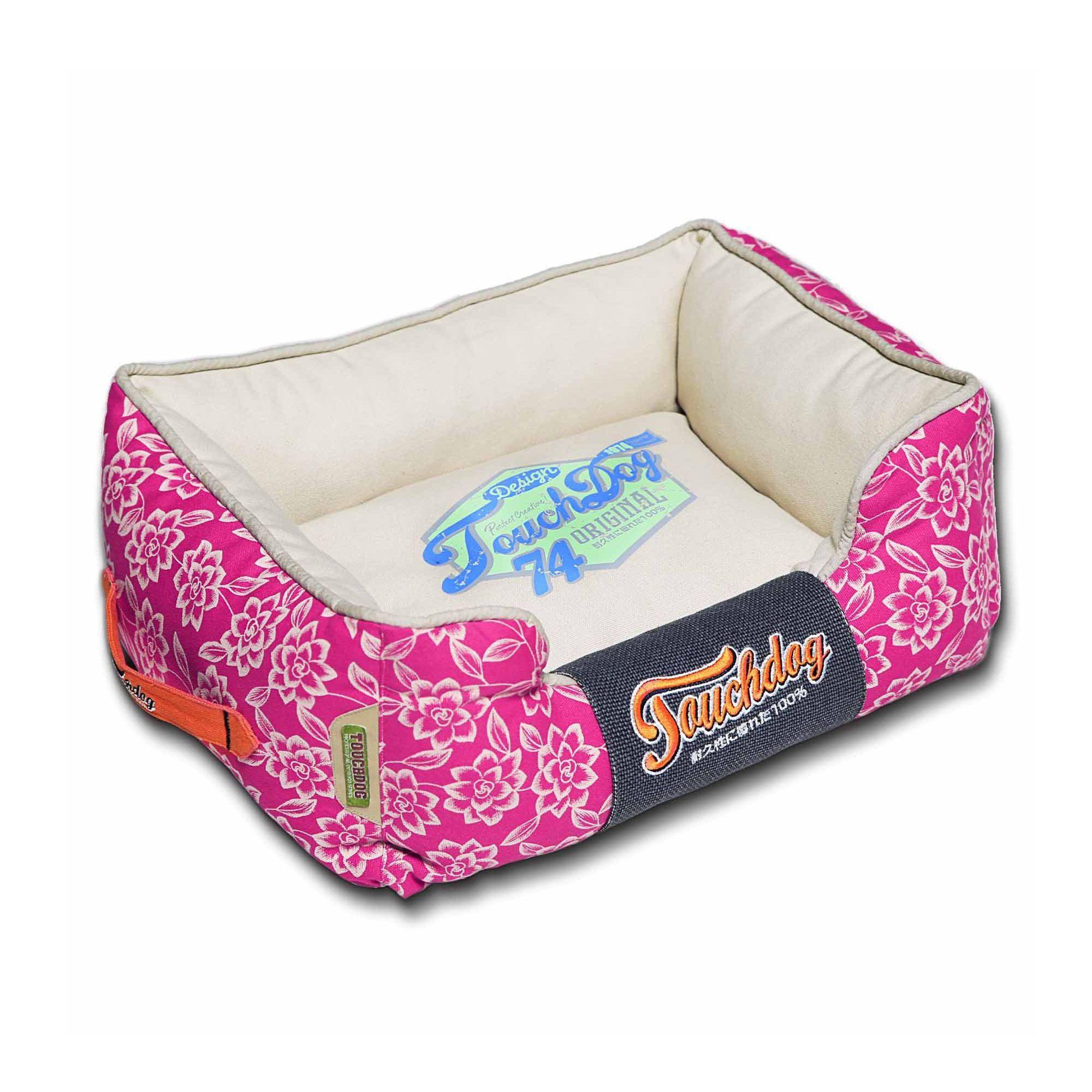 """Pet Life Toughdog Rose Petal Cuddler Dog Bed size 25.6""""L"""