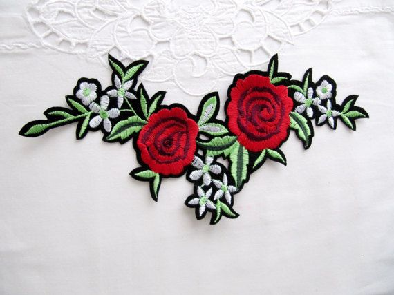 Appliques Embroidery Patch Iron or Sew on Heat Press fix Patch Motif Craft 1pc