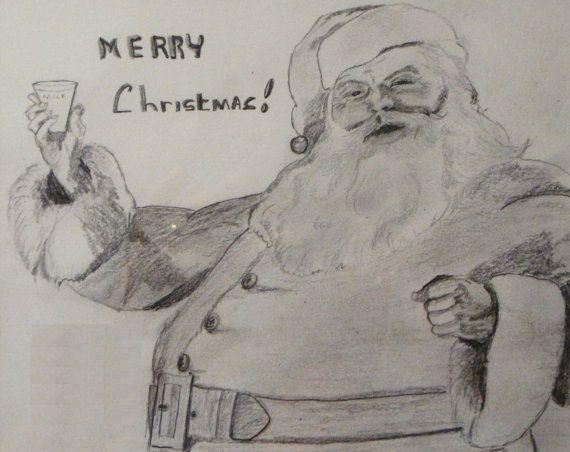 Merry christmas pencil sketch