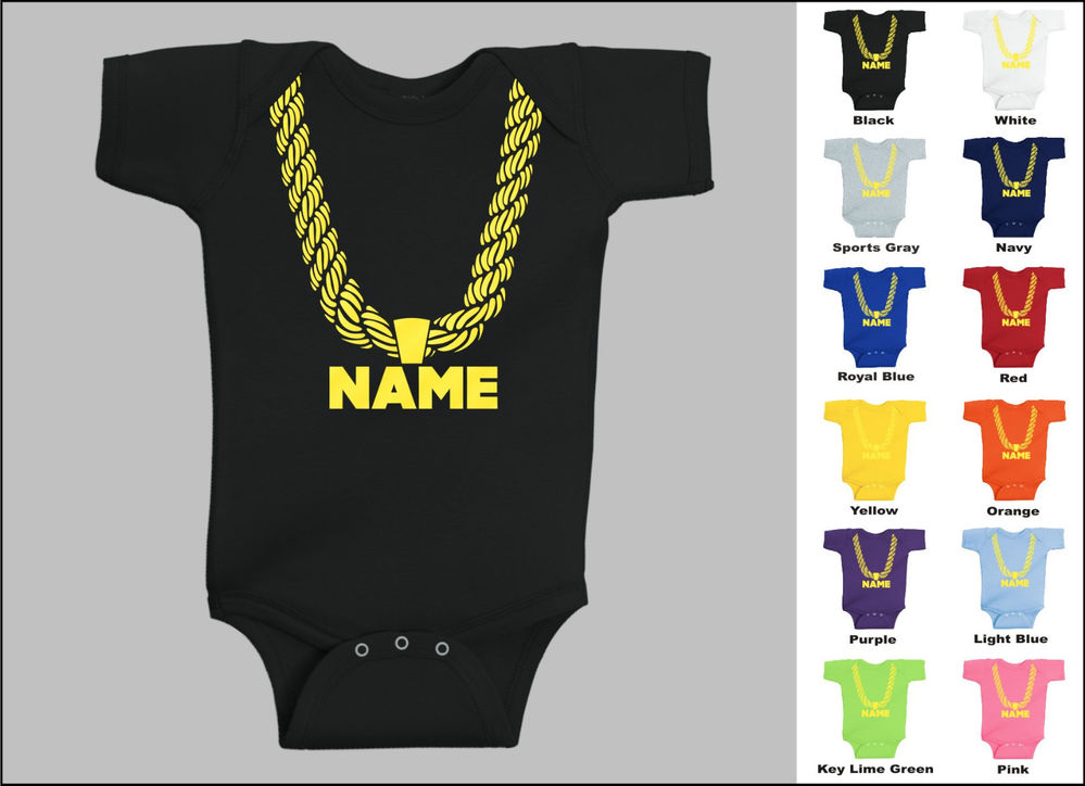 Details about Personalized Custom Name Gold Chain Hip Hop Baby One ...
