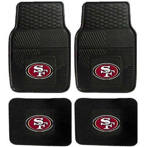 San Francisco 49ers Car Floor Mats Heavy Duty 4 Piece