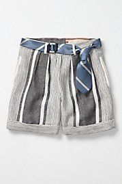Love the shorts with the necktie Belt.