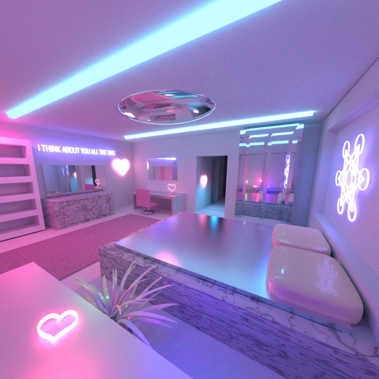 always | Quarto neon, Quartos planejados feminino, Idéias ... on Room Decor Ideas De Cuartos Aesthetic id=43098