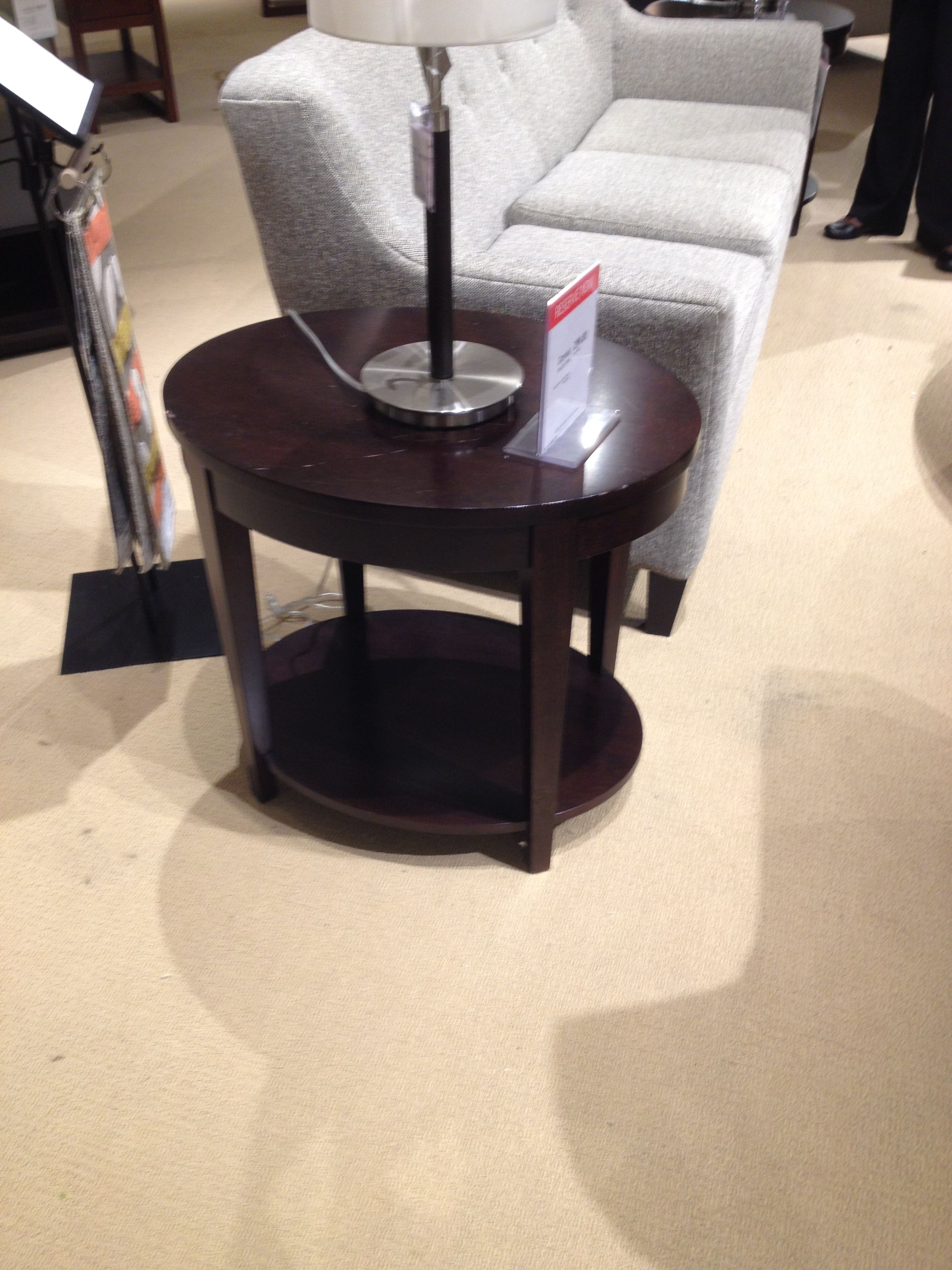 Macy's, item: Glamour Oval end table, price: $299.00