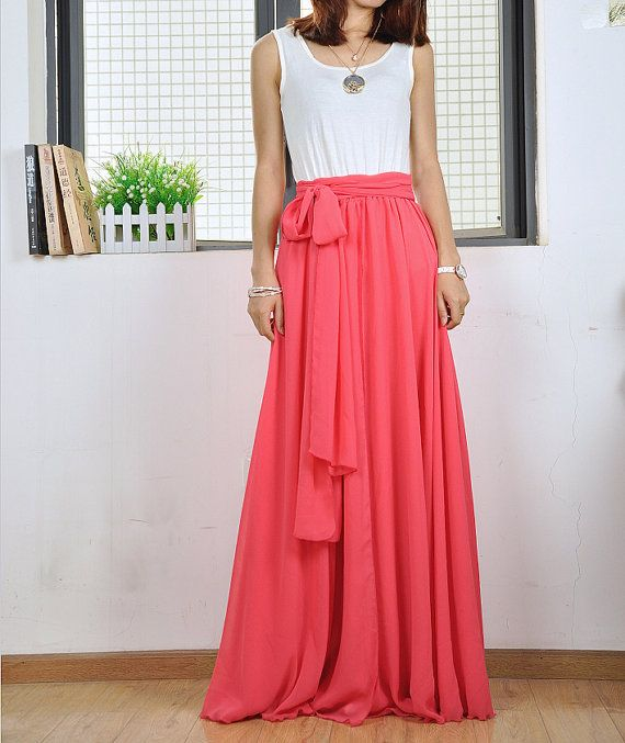 64ad2482c1595d ◇Description: This chiffon maxi skirt comes with full length ,elastic waist,big  sweep,and bow ite rope,Very casual for summer,be enjoyed.