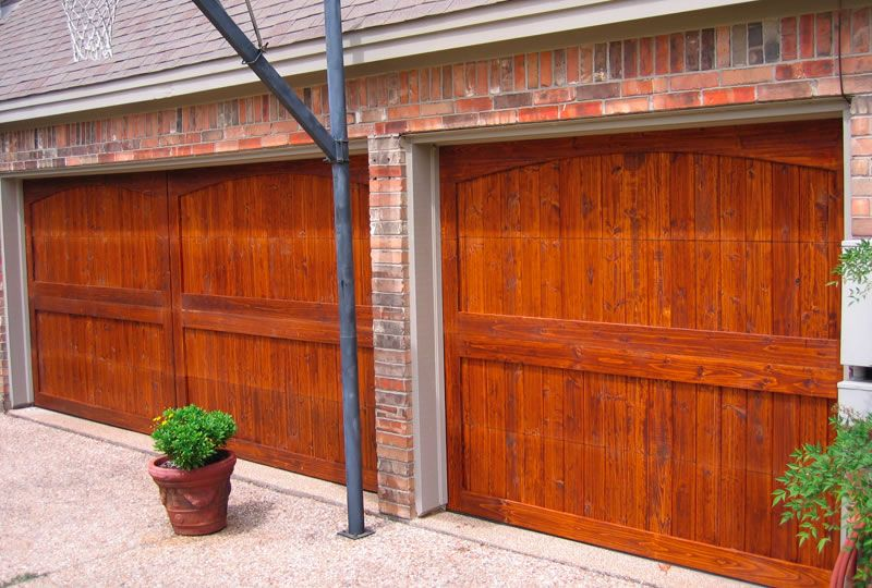 Stained Garage Doors Garage Doors Wood Stain Color
