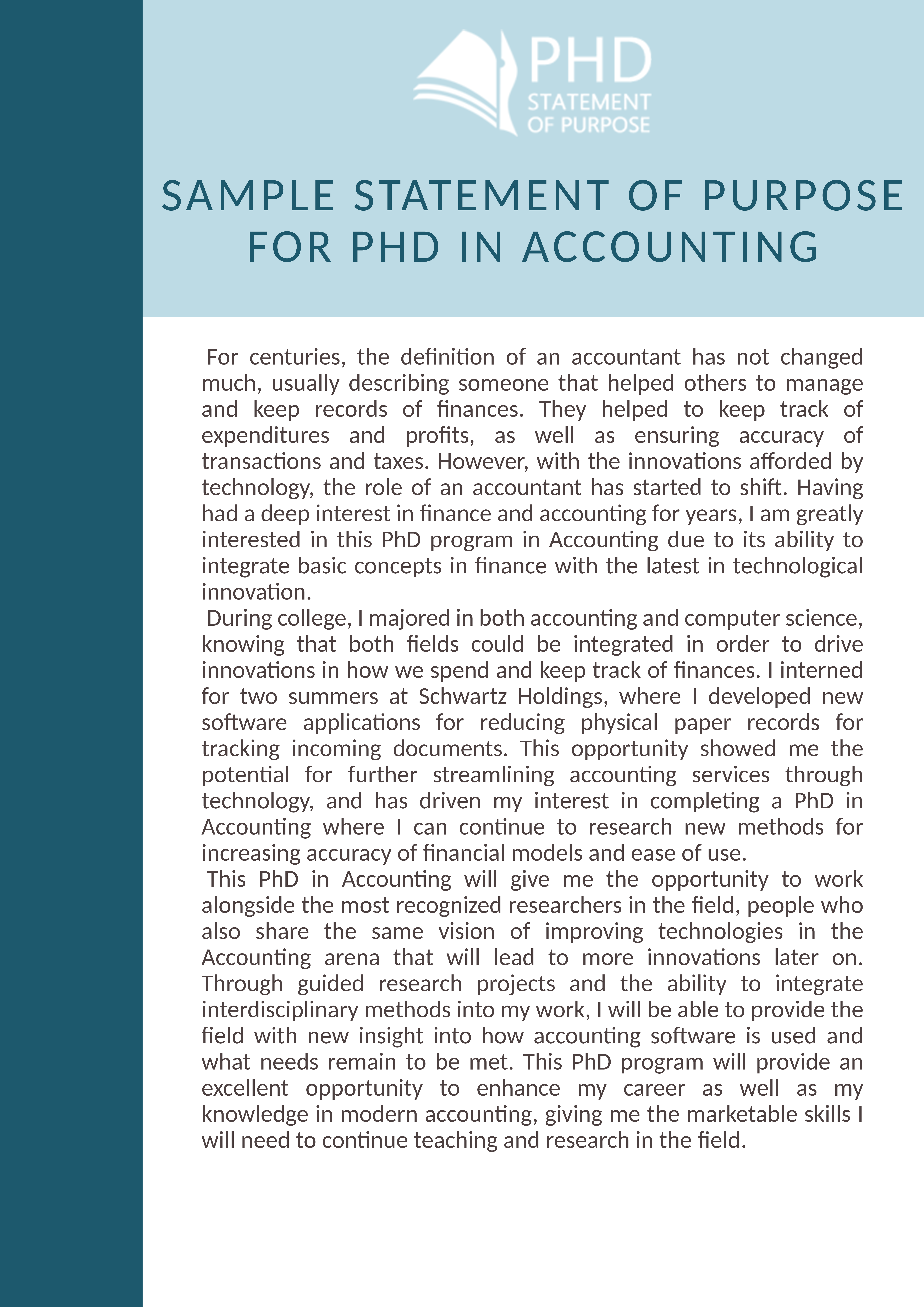 With Thi Sample Statement Of Purpose For Phd In Accounting You Will Never Have Any Writing Trouble Check More Here Pharmacology Dissertation Topic Ideas Idea