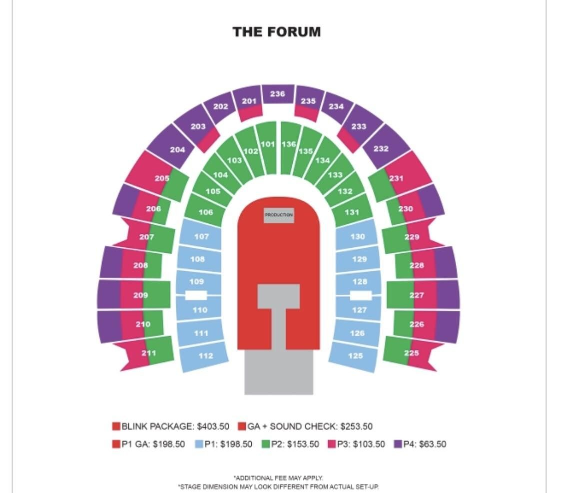 190219 Seating And Prices For Blackpink Concert At The Forum In La