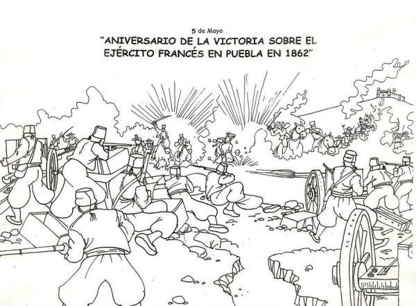 Puebla Coloring Pages Google Search Ejercito 5 De Mayo