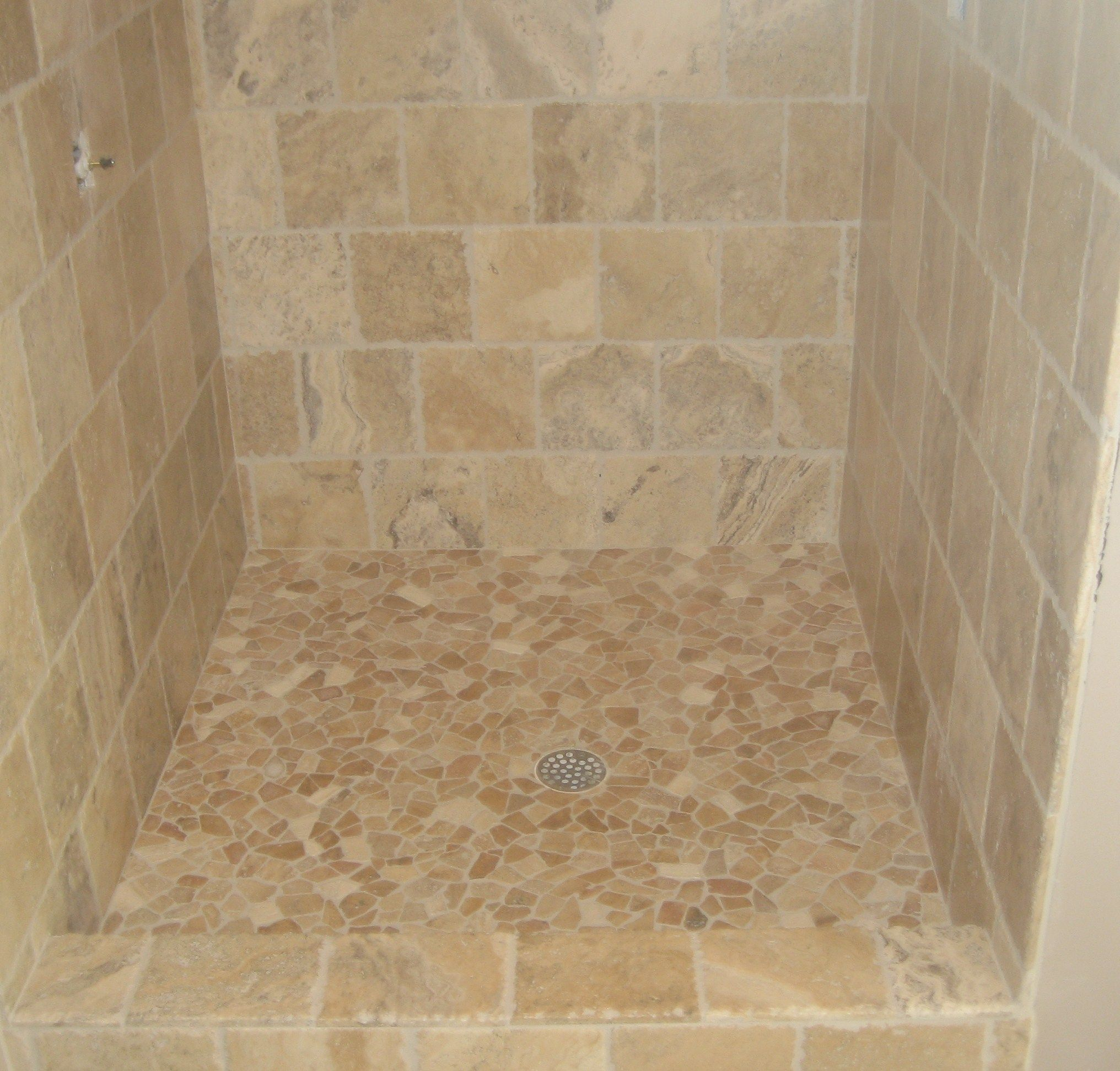 How to tile a shower floor with a shower pan and how to clean shower how to tile a shower floor with a shower pan and how to clean shower floor dailygadgetfo Images