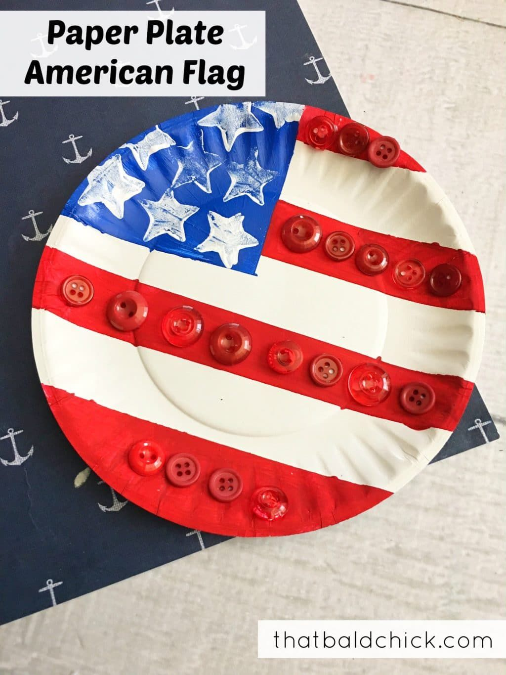 Paper Plate American Flag Kids Craft, Patriotic, Red-White-Blue, 4th ...