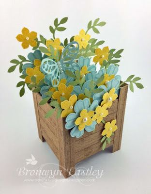 Spring Planter Box Card (addINKtive designs)