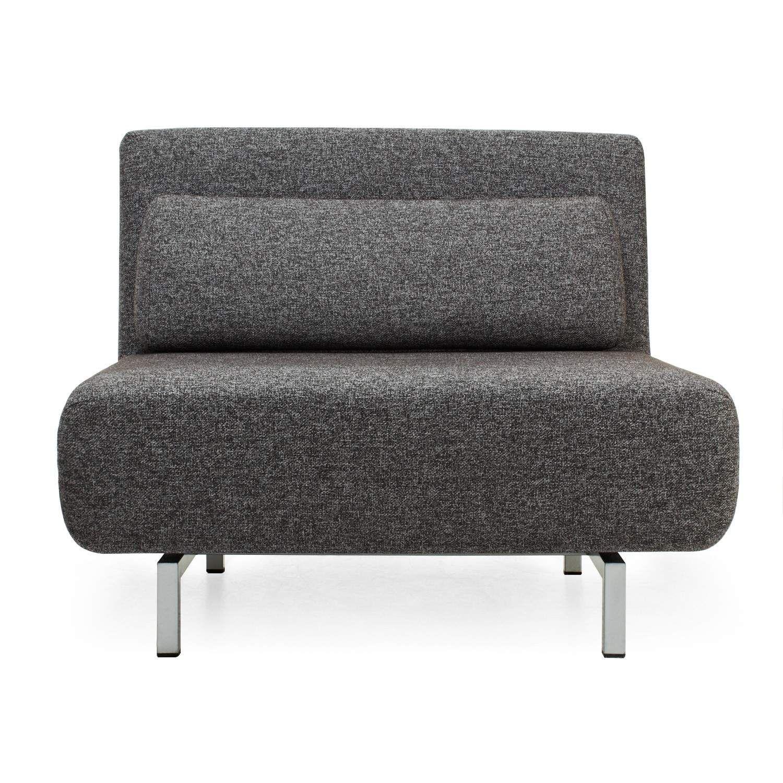 Fresco Convertible Lounger Charcoal Modern Sleeper Sofa Daybed