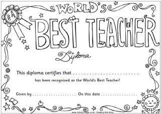 Teacher Appreciation Colouring Pages  dyi  Pinterest  Preschool