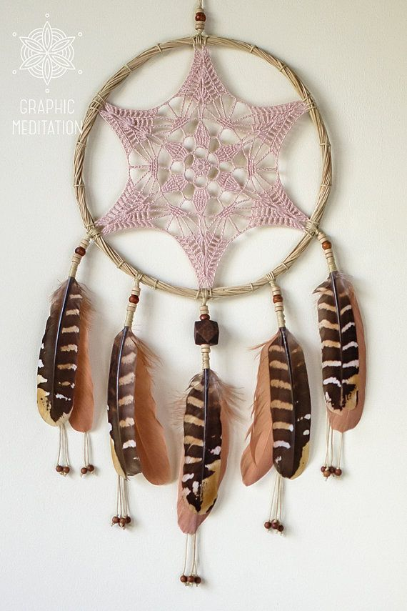 Doily dreamcatcher wall hanging Crochet boho dreamcatcher Large ...