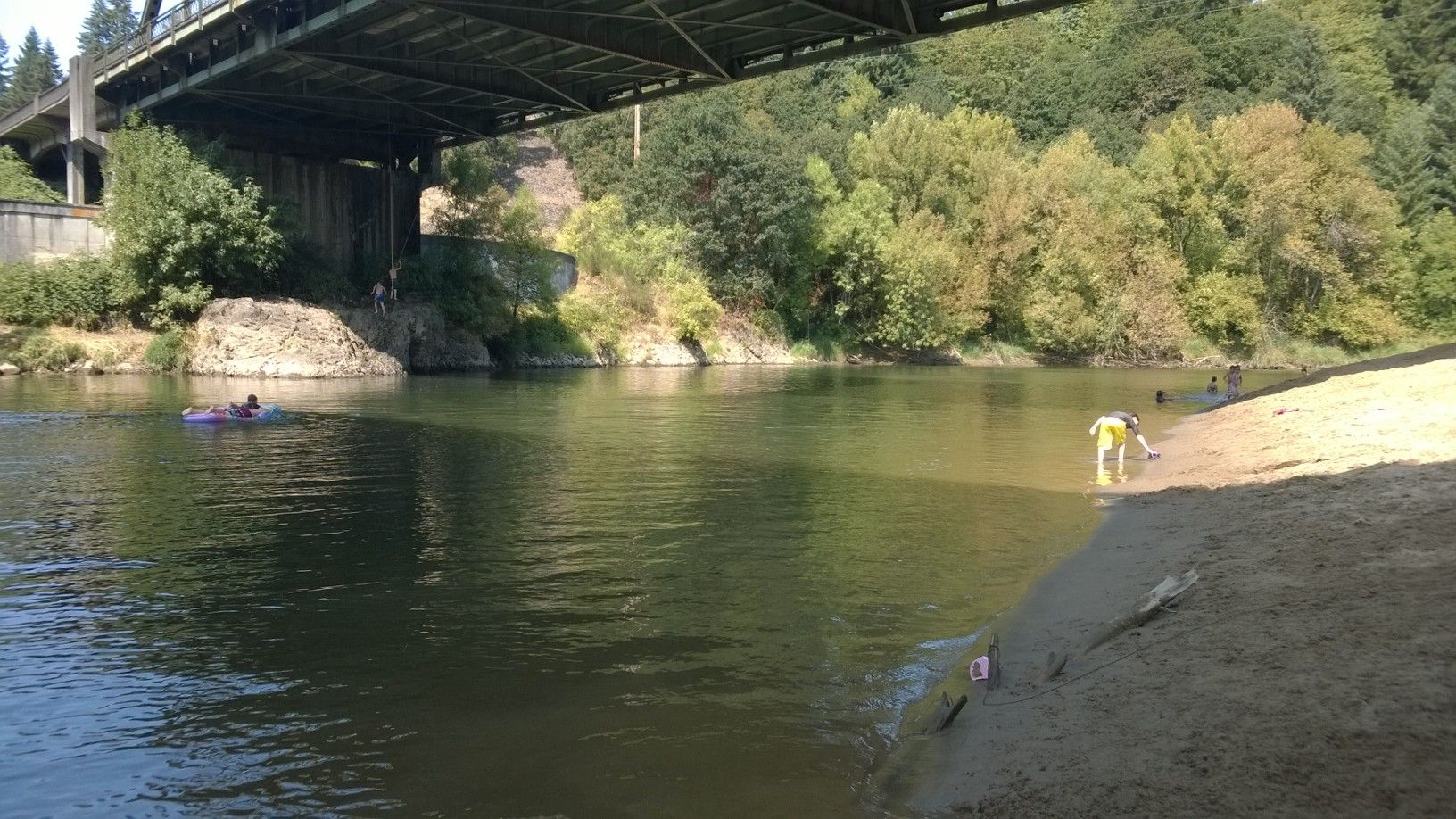 My kids floating down the Lewis River, WA...life is so beautiful.