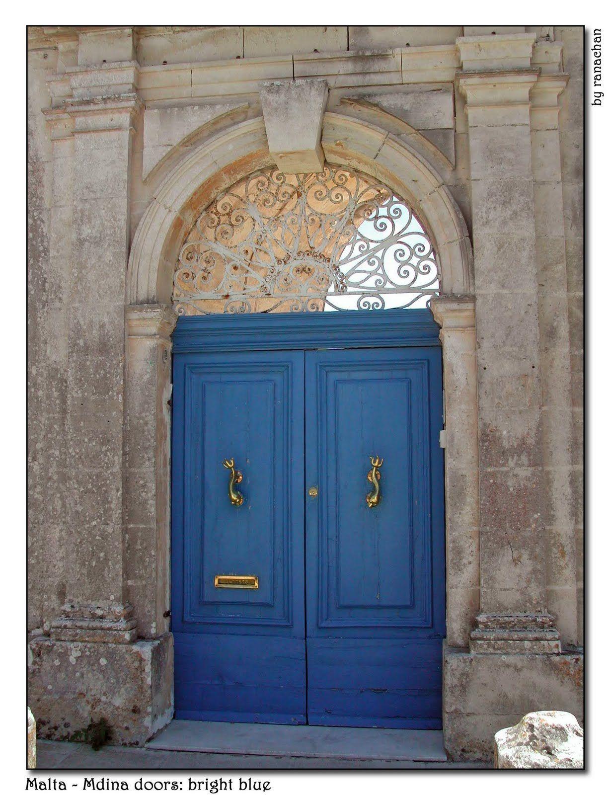 Dionne Designs Maltese Architecture Details Blue Door Mediterranean Blue Paint Vintage Doors