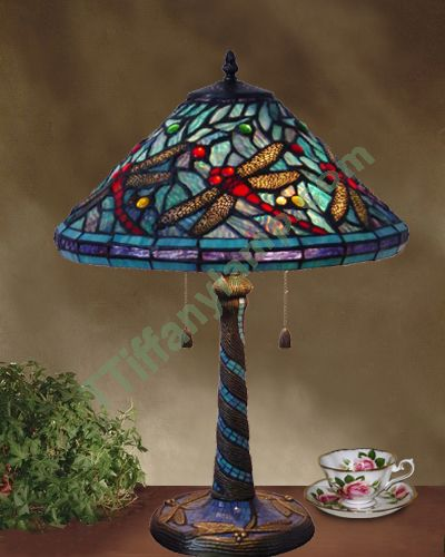 Osmond Dragonfly Table Lamp T16004   Tiffany Table Lamps   Tiffany .
