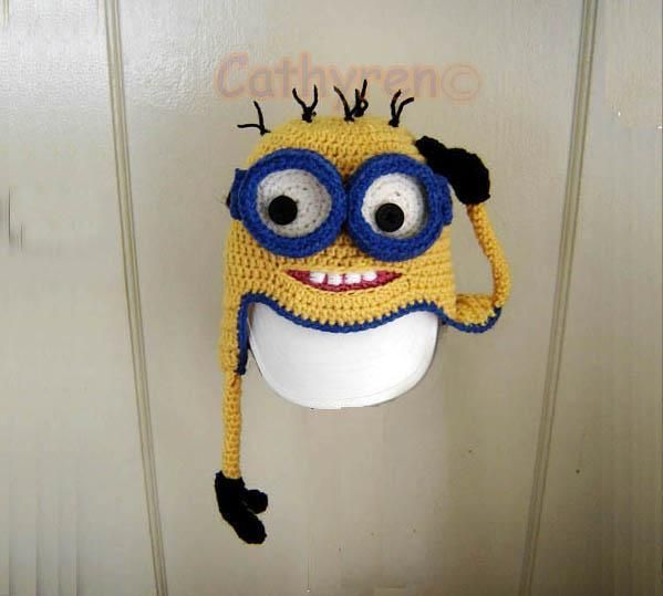 Minion Earfalps Hat with Goggles | Halloween minions, Minion hats ...