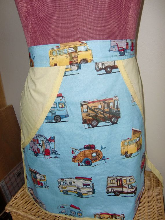 Travel Trailer Apron by happytrailsmichelle on Etsy, $16.00