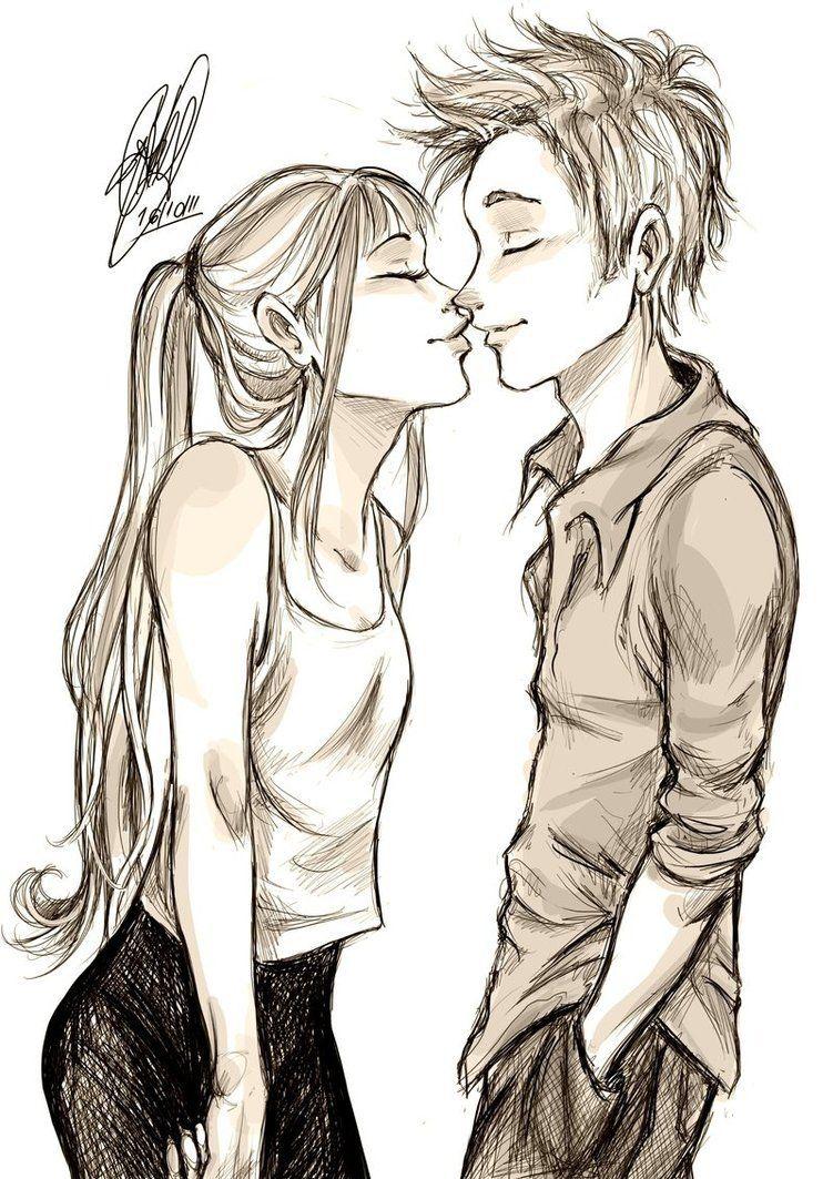 Картинки парень с девушкой рисунок карандашом