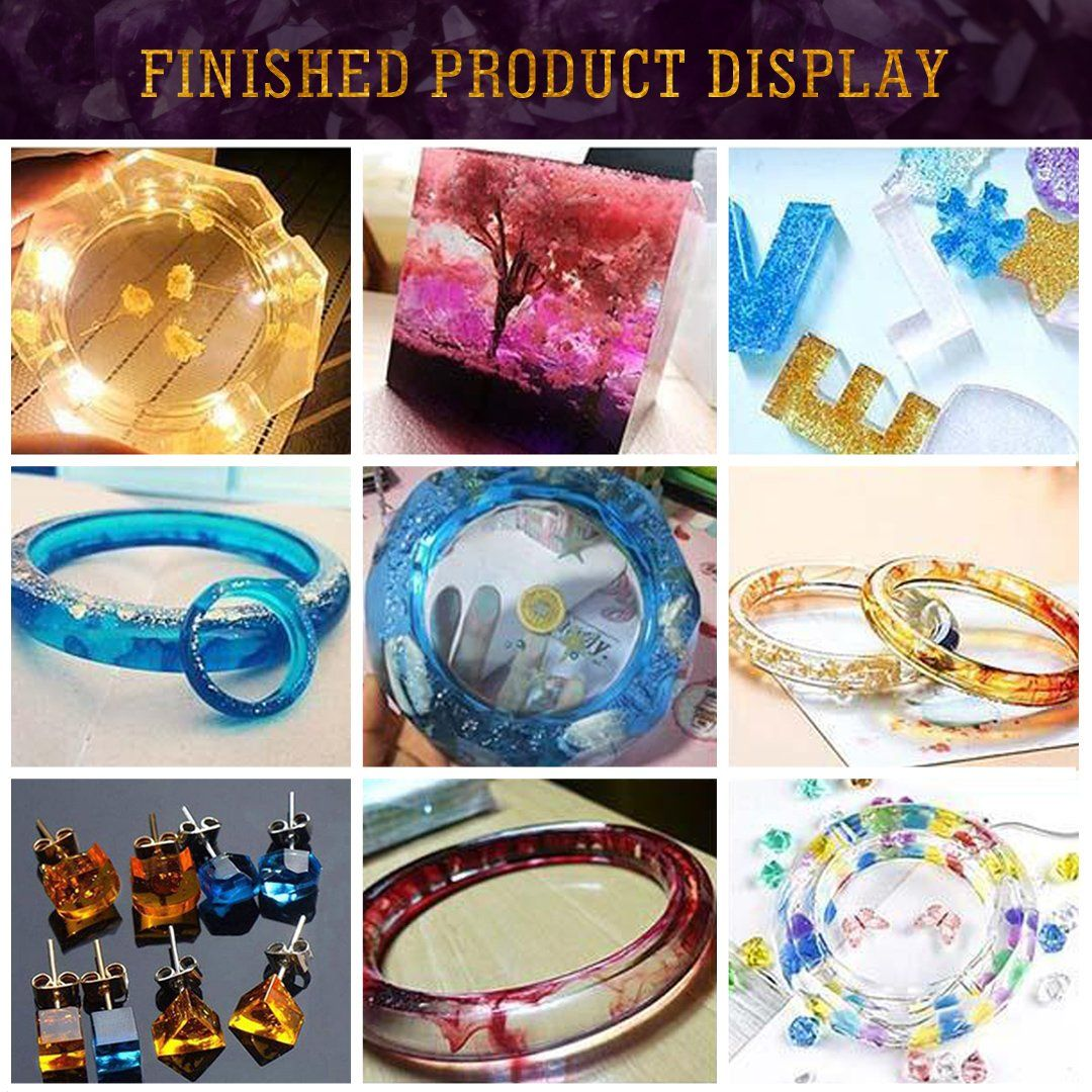 Photo of DIY Crystal Glue Jewelry Mold 229 Pcs Set ⭐⭐⭐⭐⭐