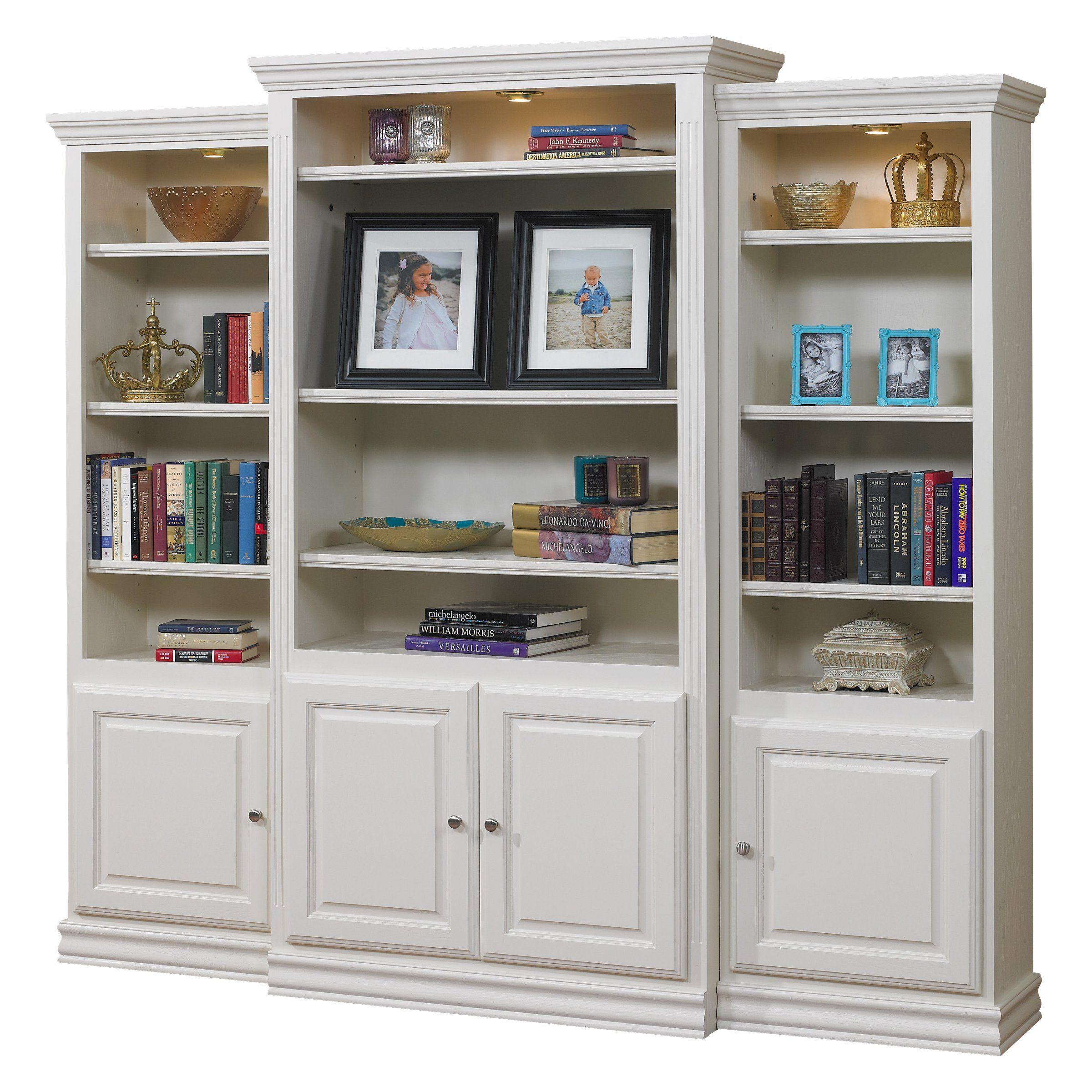 a & e kamran wall bookcase pearl white A & E Kamran Wall Bookcase   Pearl White   Bookcases at Hayneedle  a & e kamran wall bookcase pearl white